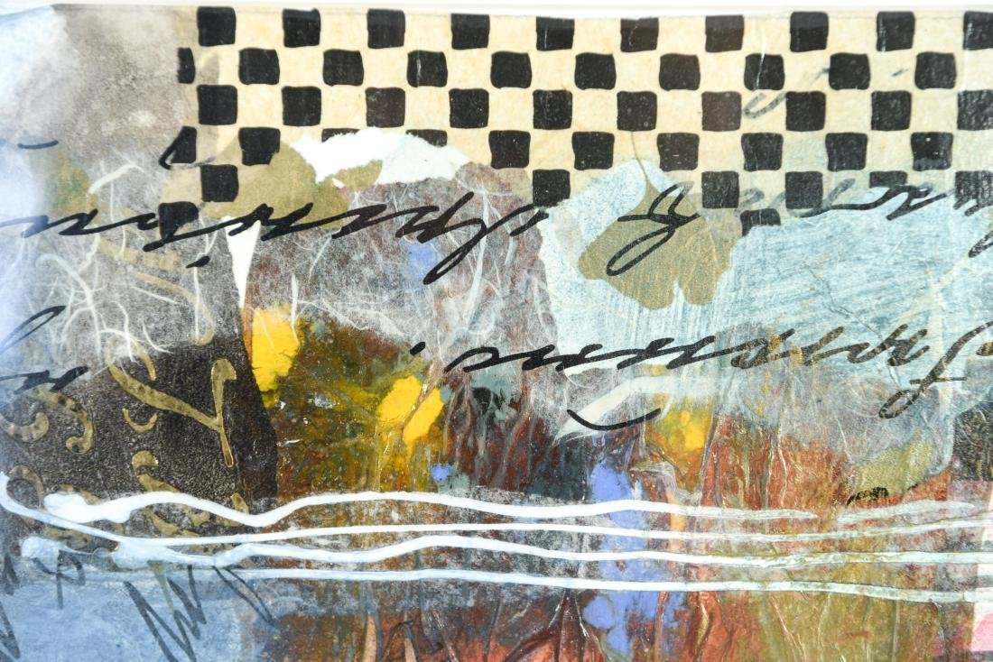 (2) BB MCINTYRE ABSTRACT COLLAGES - 8