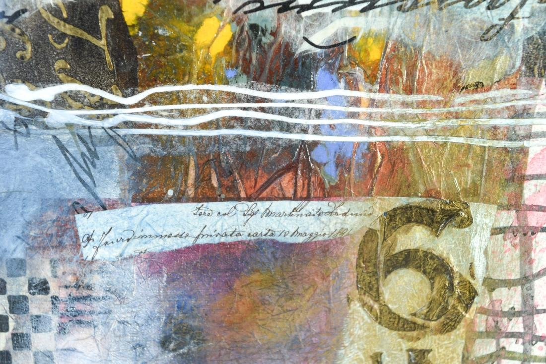 (2) BB MCINTYRE ABSTRACT COLLAGES - 9