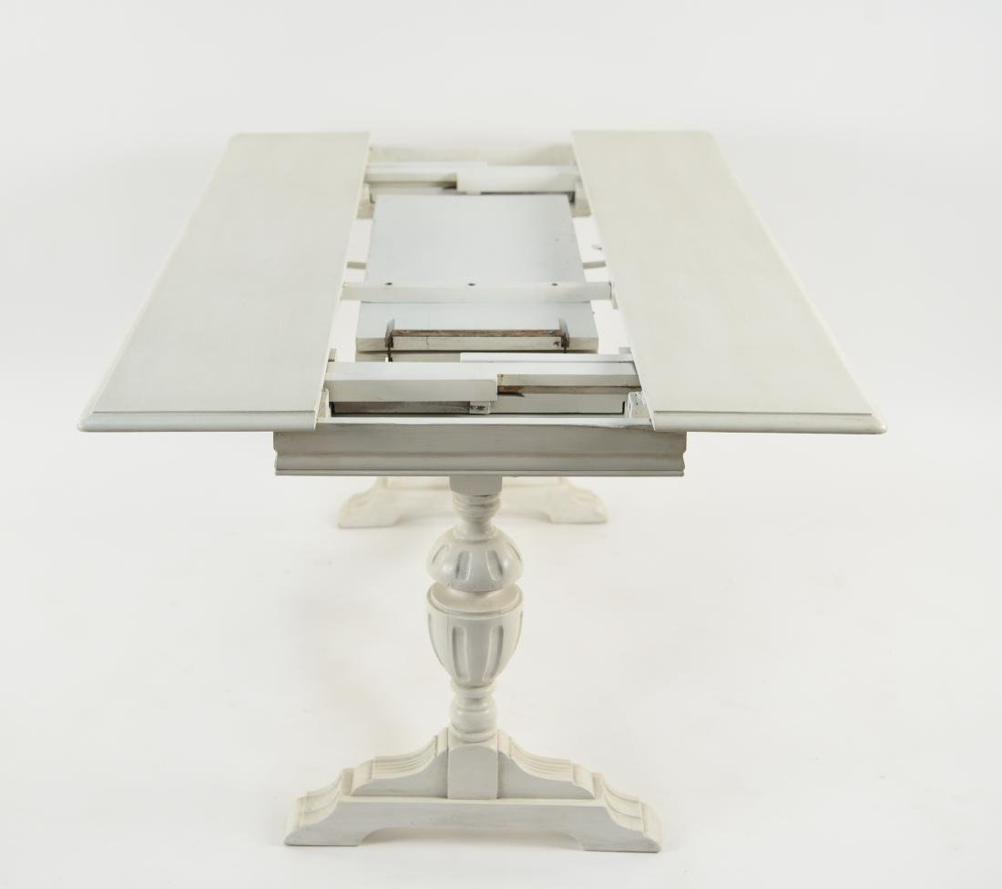 WHITE PAINTED TRESTLE TABLE - 10