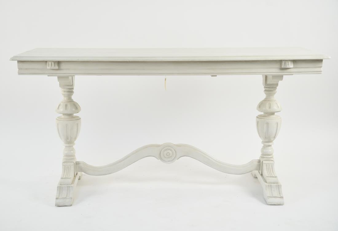 WHITE PAINTED TRESTLE TABLE - 2