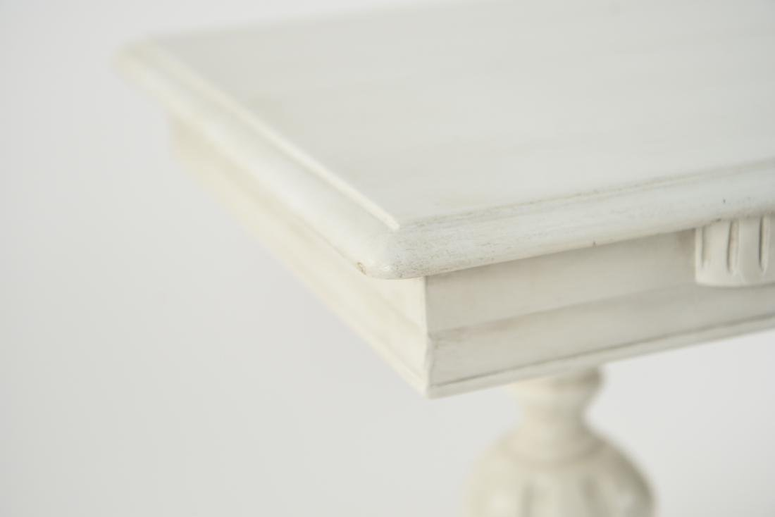WHITE PAINTED TRESTLE TABLE - 3