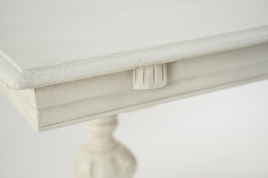WHITE PAINTED TRESTLE TABLE - 4