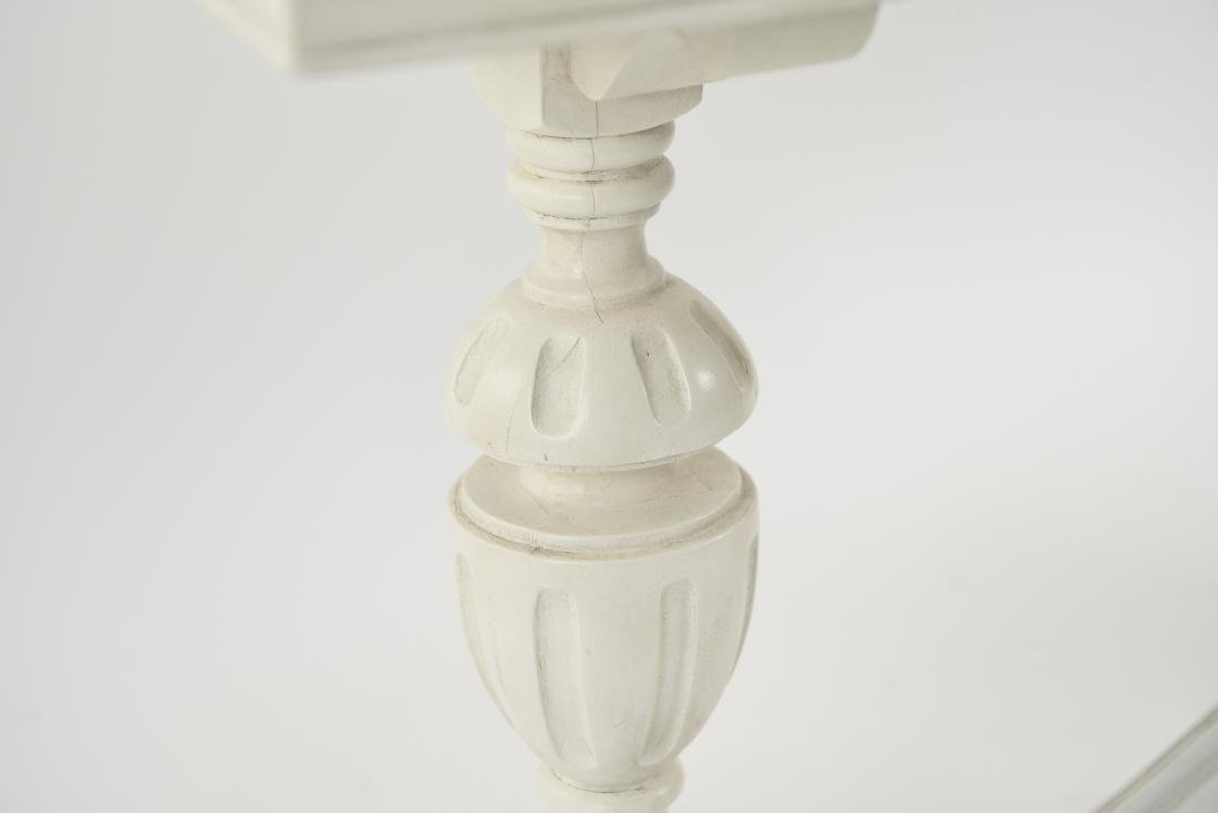 WHITE PAINTED TRESTLE TABLE - 5