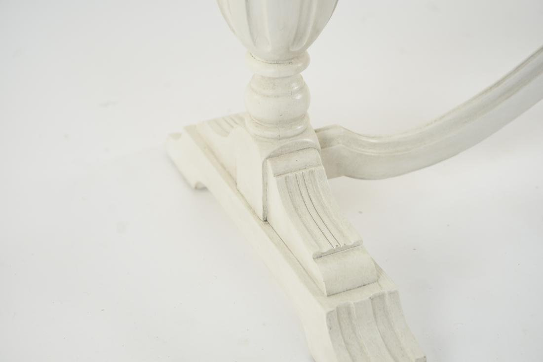 WHITE PAINTED TRESTLE TABLE - 6