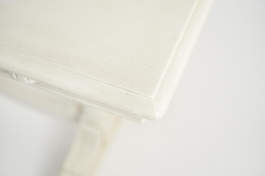 WHITE PAINTED TRESTLE TABLE - 7