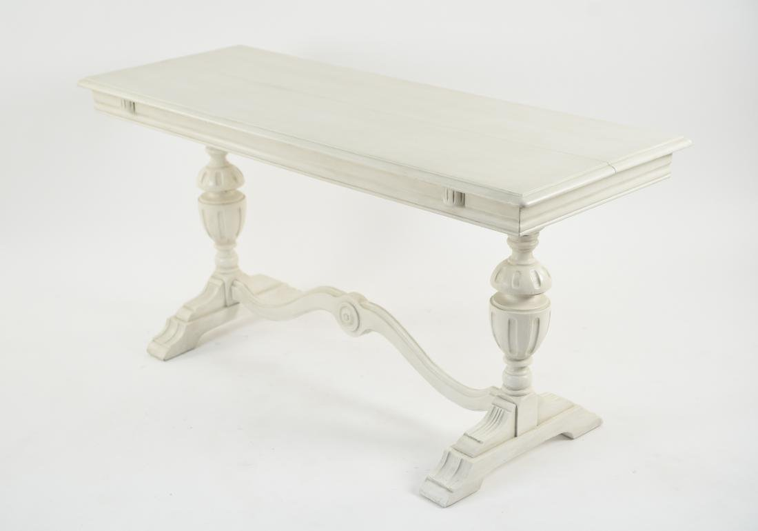 WHITE PAINTED TRESTLE TABLE - 8