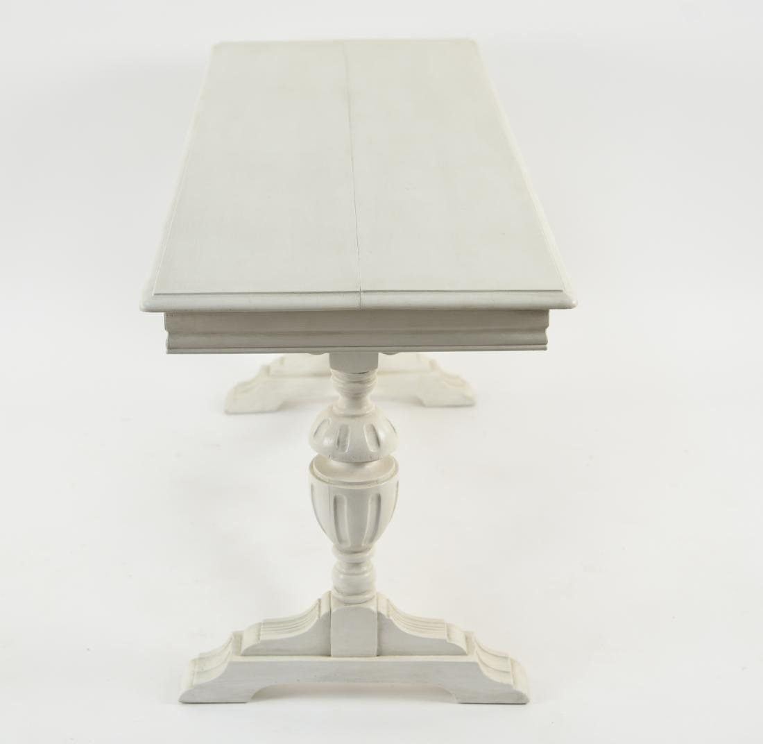 WHITE PAINTED TRESTLE TABLE - 9
