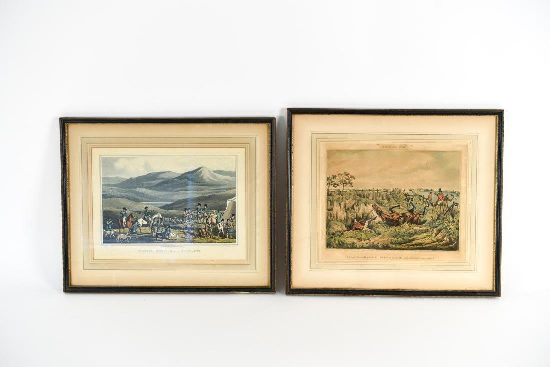 (2) HENRY ALKEN HUNTING HAND COLORED AQUATINTS