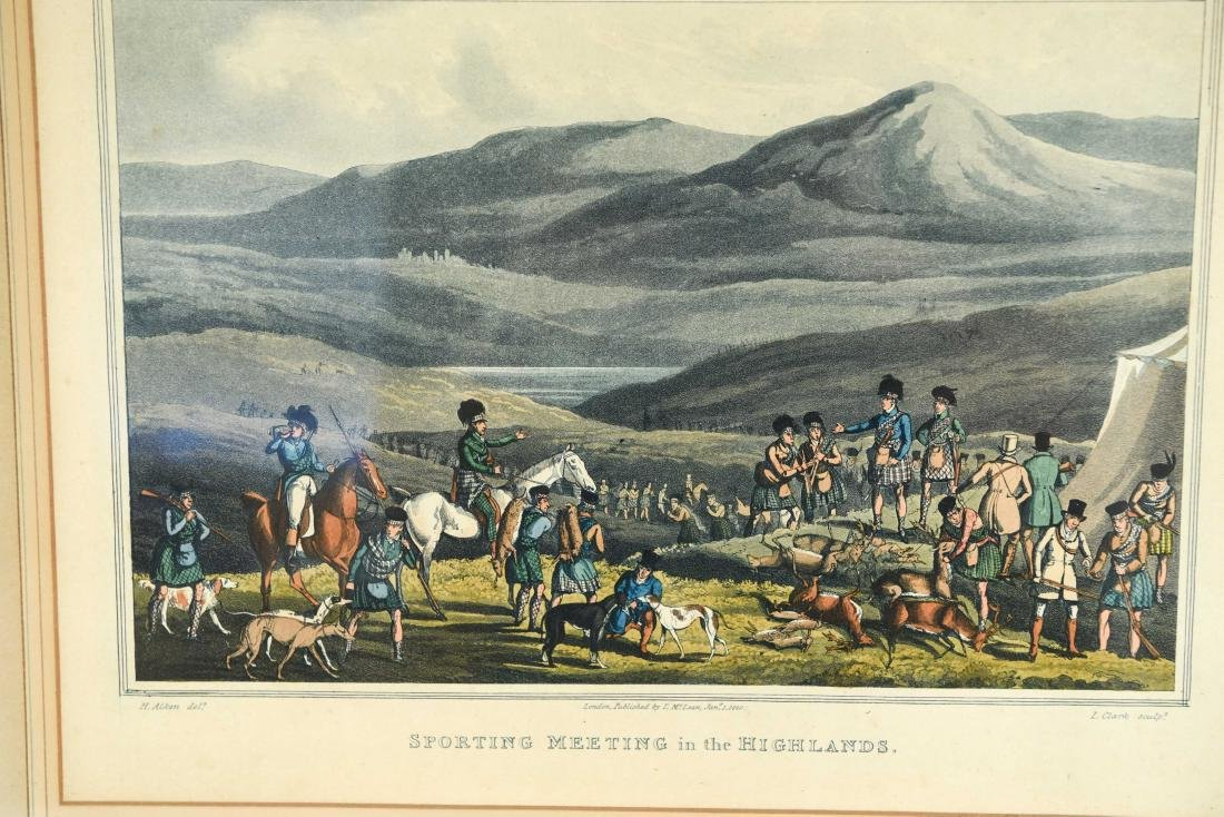 (2) HENRY ALKEN HUNTING HAND COLORED AQUATINTS - 2