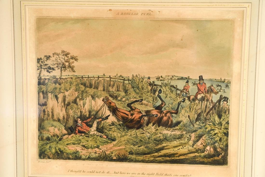 (2) HENRY ALKEN HUNTING HAND COLORED AQUATINTS - 3