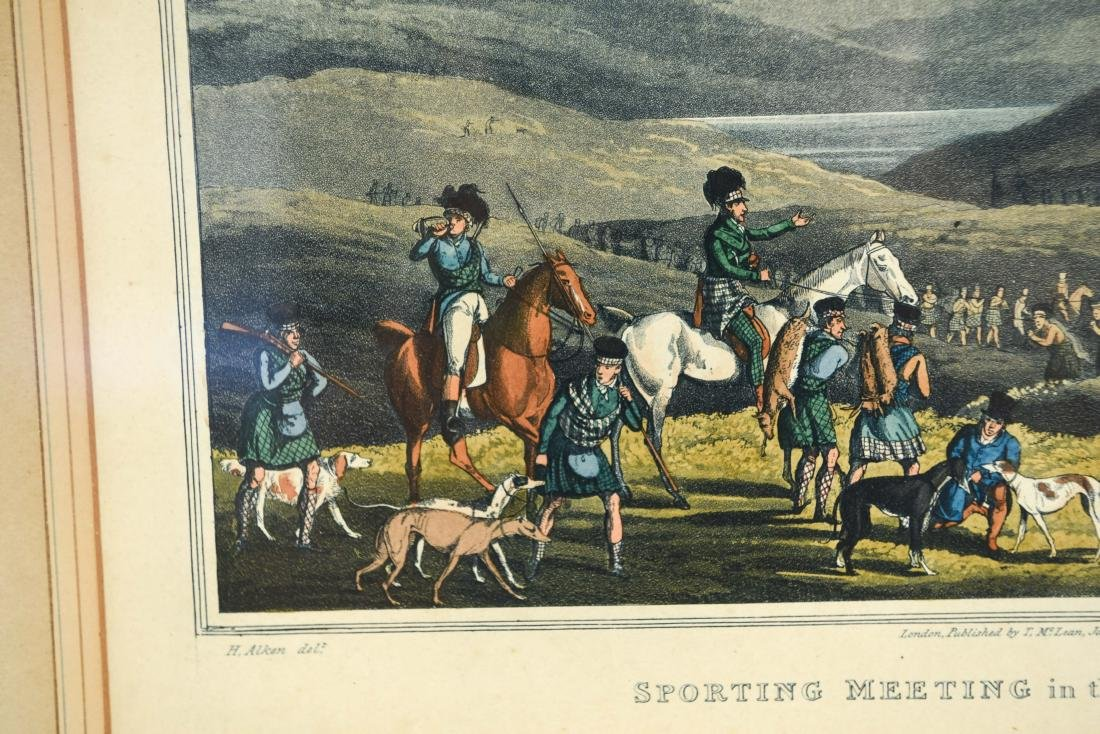 (2) HENRY ALKEN HUNTING HAND COLORED AQUATINTS - 4