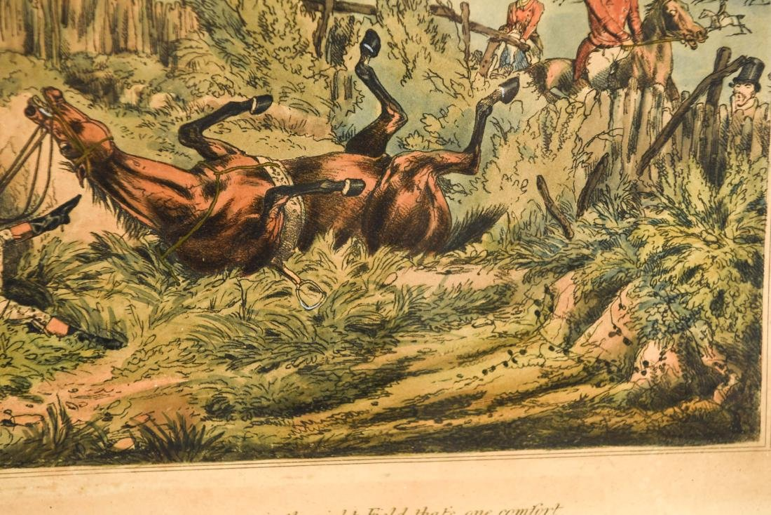 (2) HENRY ALKEN HUNTING HAND COLORED AQUATINTS - 9