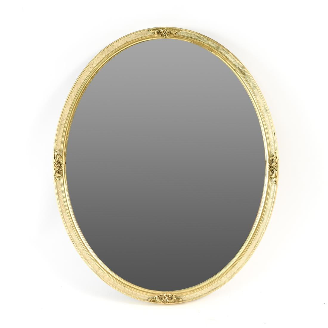 GOLD GILT FRAME OVAL MIRROR