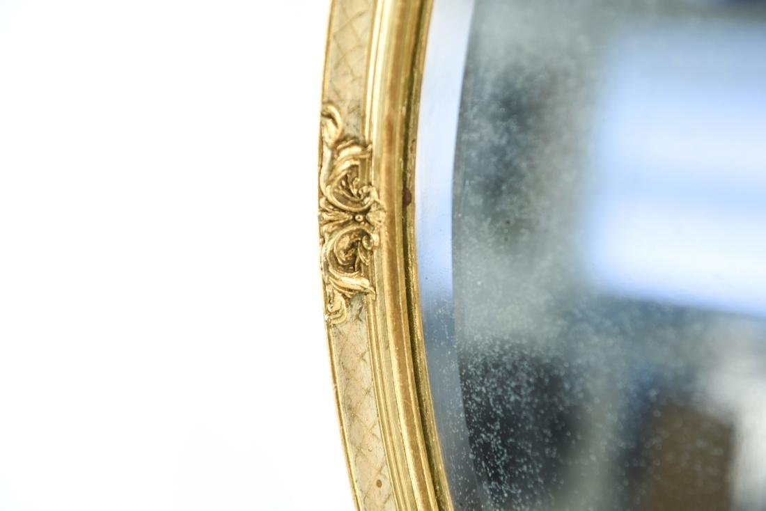 GOLD GILT FRAME OVAL MIRROR - 6