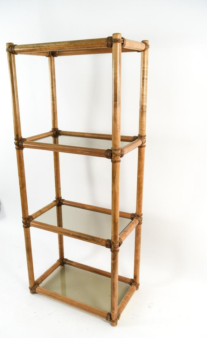 WOOD AND GLASS ETAGERE