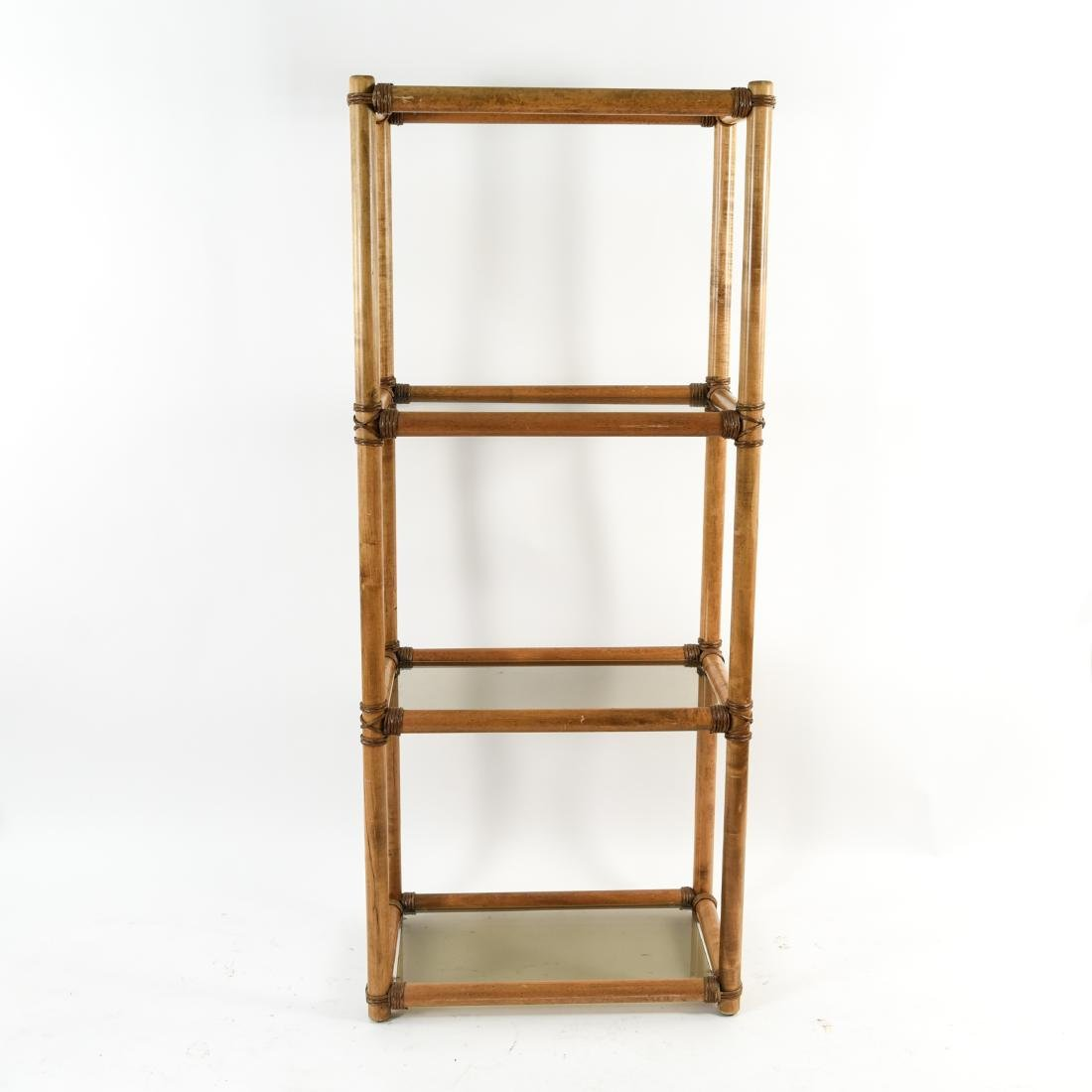 WOOD AND GLASS ETAGERE - 2