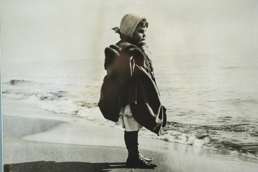 C. 1900 PHOTOGRAPH OF A GIRL ON A BEACH - 2