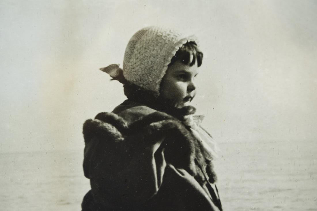 C. 1900 PHOTOGRAPH OF A GIRL ON A BEACH - 3