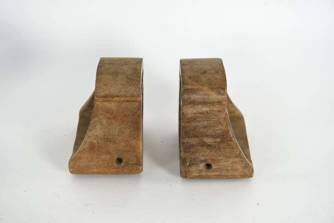 GROUPING OF ANTIQUE AND VINTAGE WOODEN STIRRUPS - 6