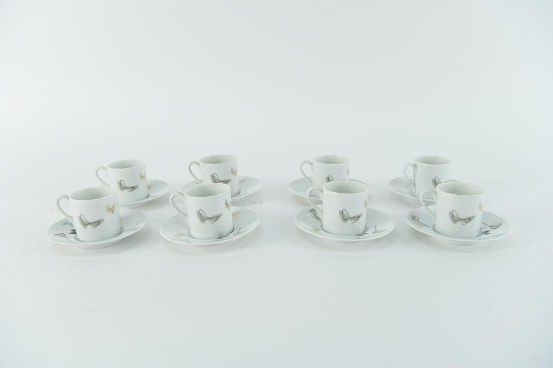 MID-CENTURY NORITAKE CHINA DEMITASSE SET FOR 8