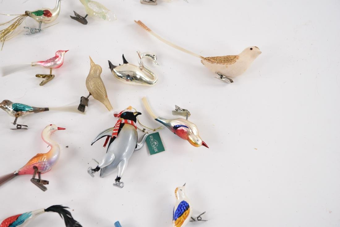 GROUPING OF VINTAGE BIRD CHRISTMAS ORNAMENTS - 5