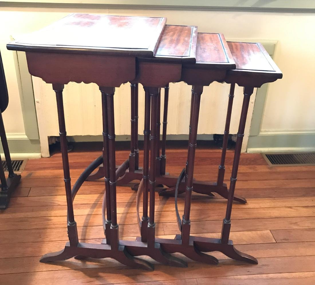 MAHOGANY NESTING TABLES - 3