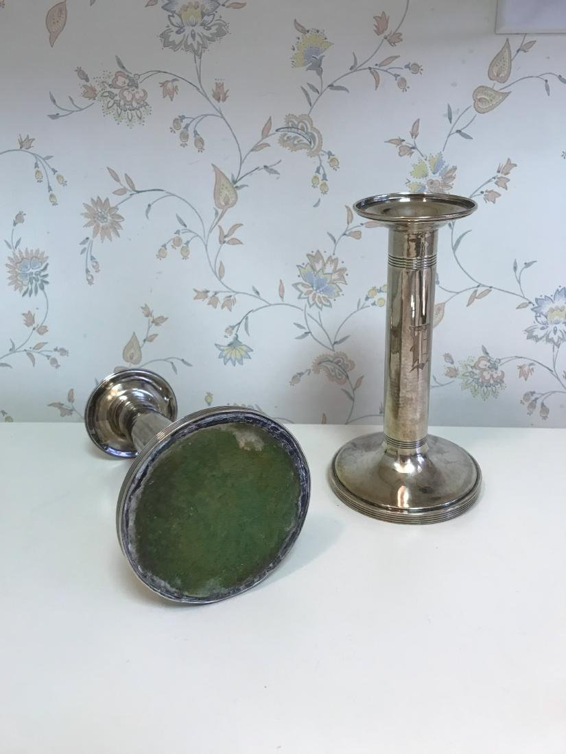 WEIGHTED SILVER CANDLESTICKS - 2