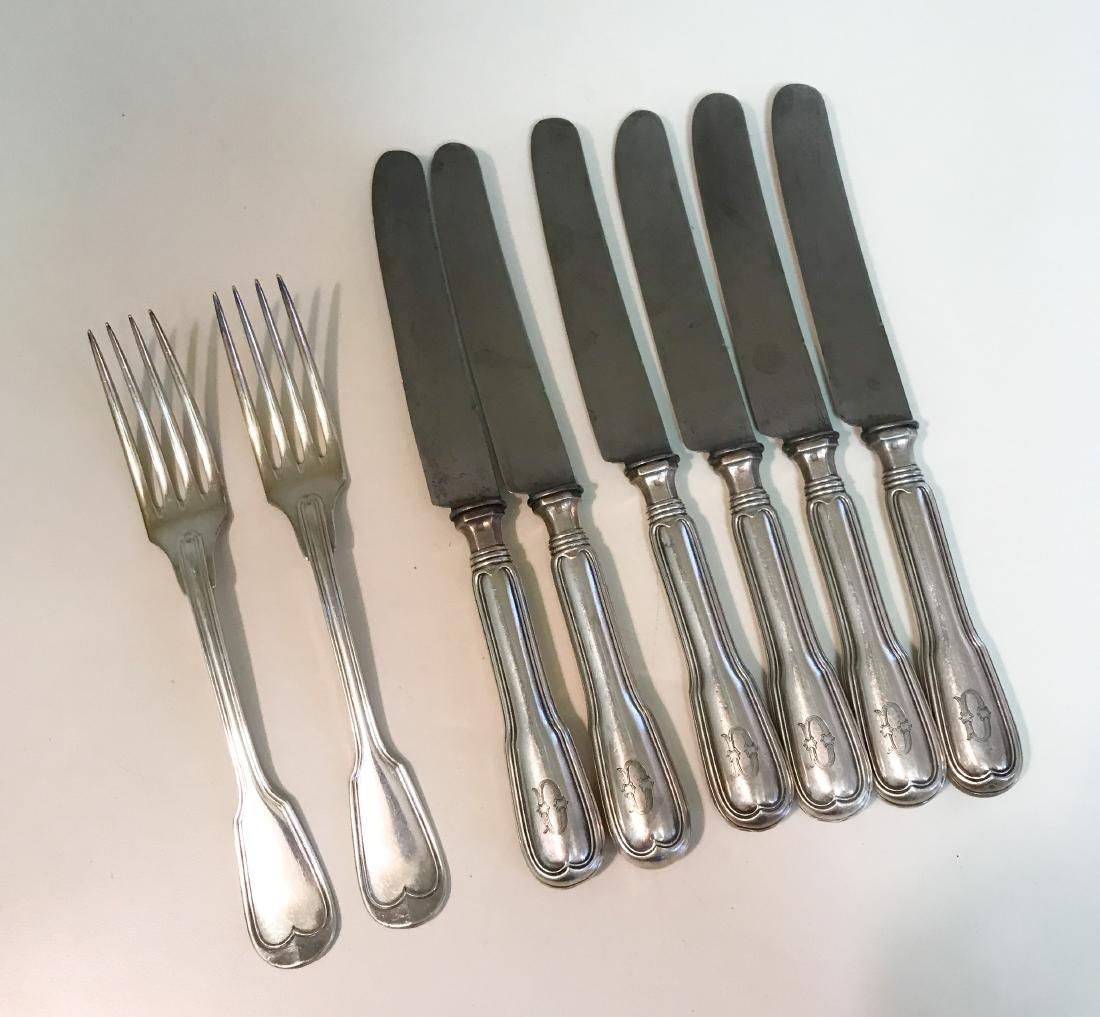 CHRISTOFLE KNIVES AND FORKS