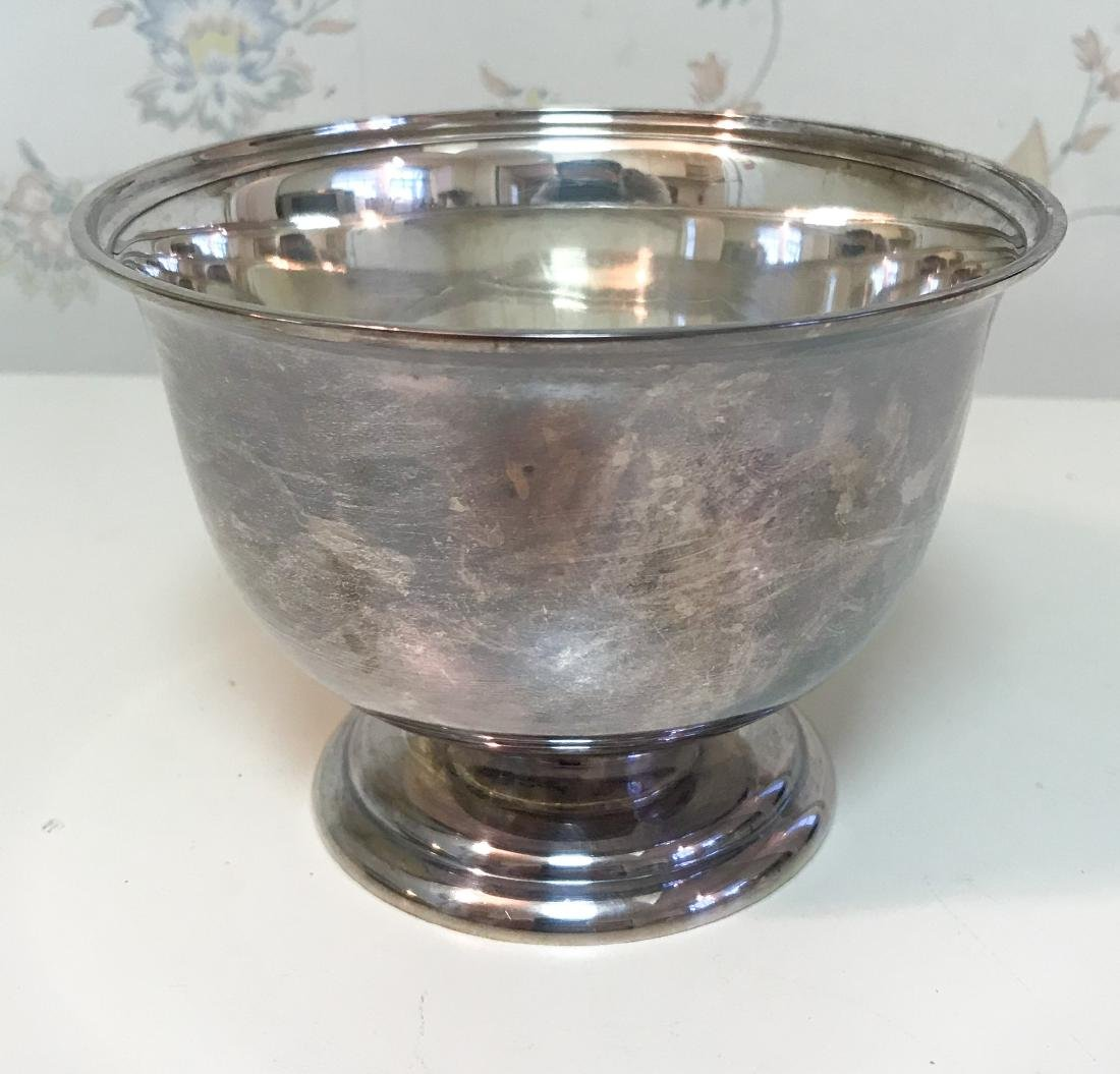 SMALL STERLING SILVER FOOTED BOWL