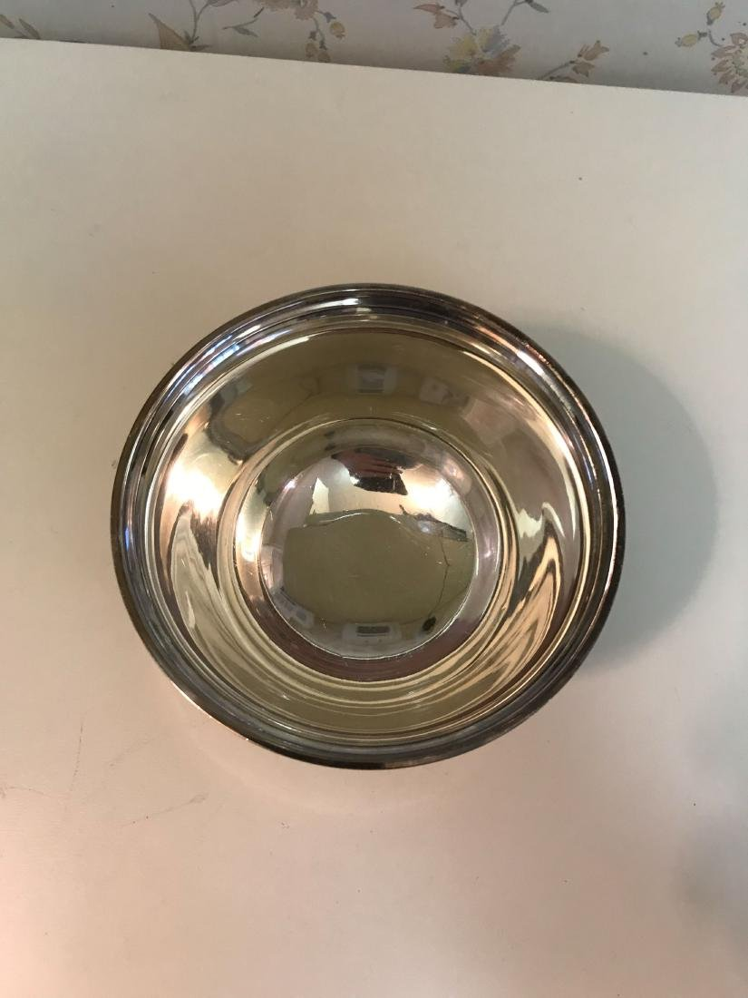 SMALL STERLING SILVER FOOTED BOWL - 3