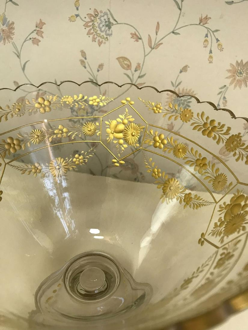 GOLD DECORATED GLASS COMPOTE - 4