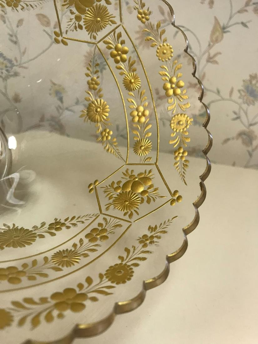 GOLD DECORATED GLASS COMPOTE - 5