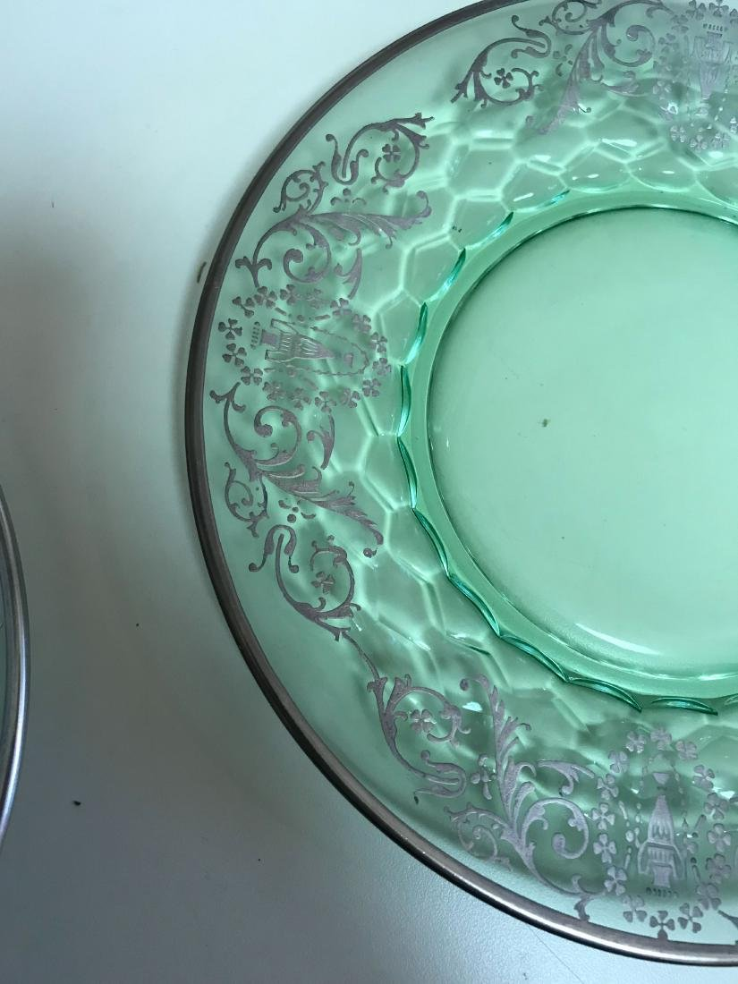 STERLING OVERLAY GLASS PLATES - 2