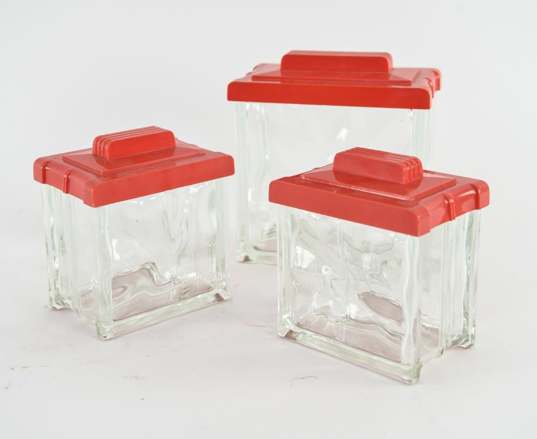 (3) VINTAGE CANISTERS