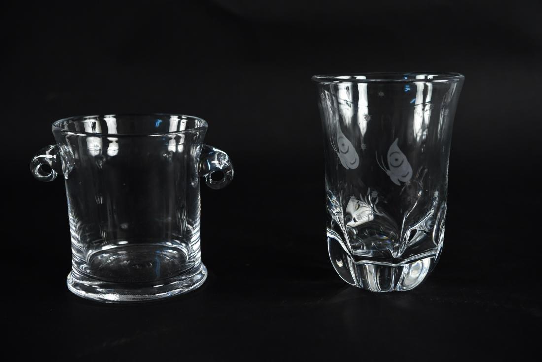 GLASS VASE AND BUCKET