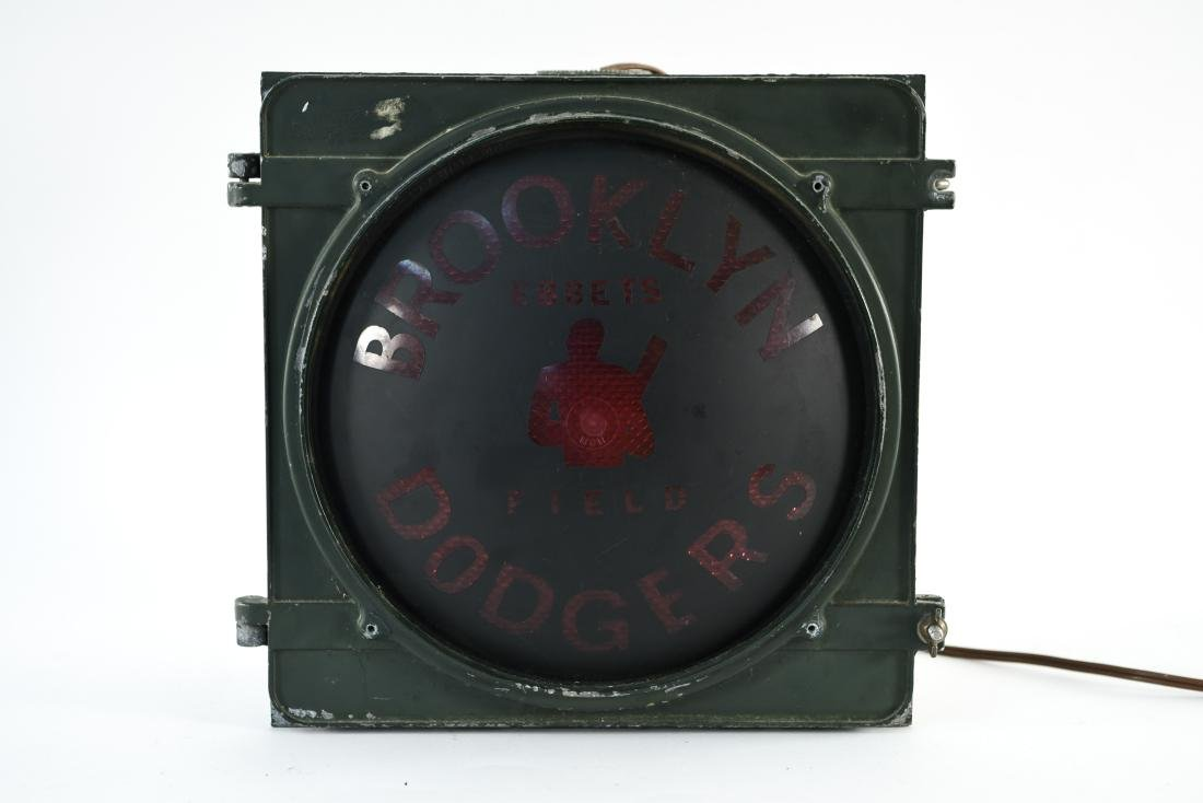 BROOKLYN DODGERS LIGHT UP SIGN