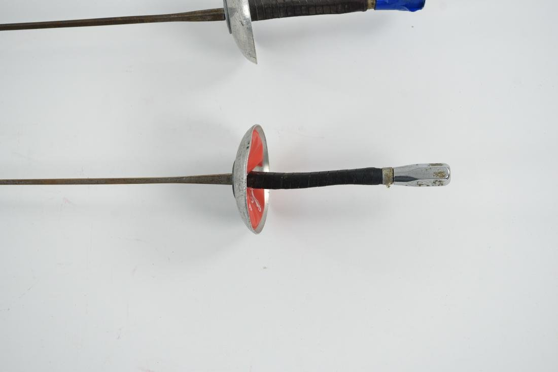 (2) FRENCH HANDLED FENCING FOILS AND MASK - 4