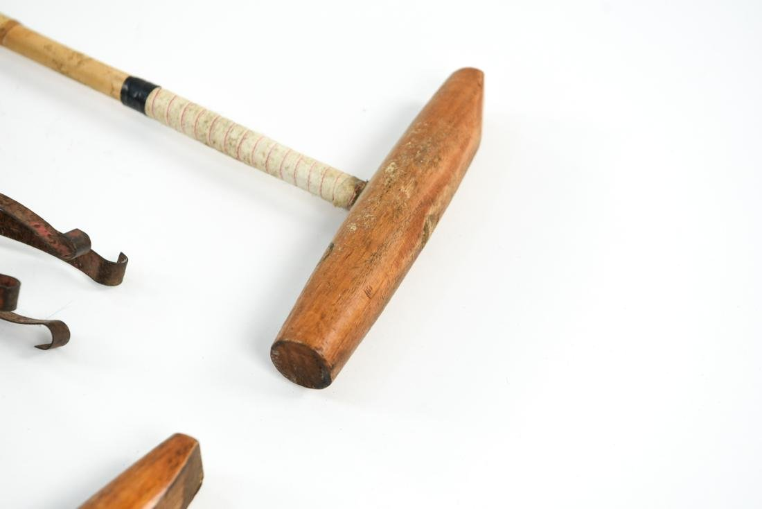 (2) POLO MALLETS AND A BALL CATCHER - 10
