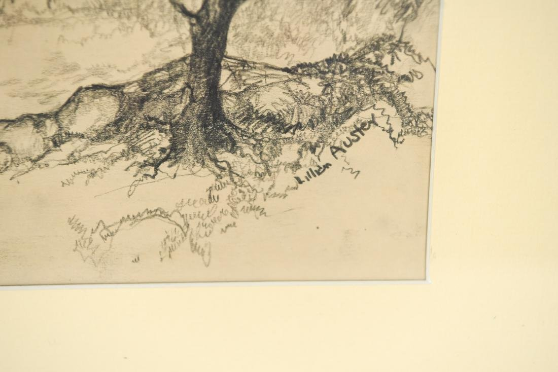 DRAWING OF A BARN, SIGNED LILLIAN AUSTIN - 2