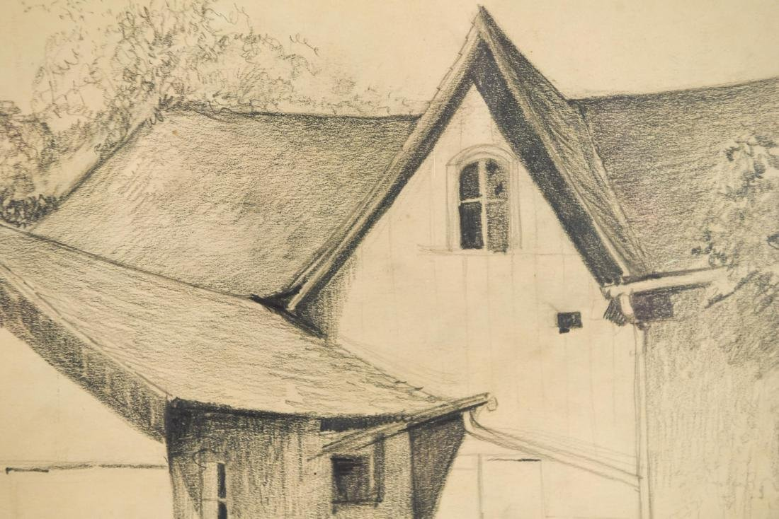 DRAWING OF A BARN, SIGNED LILLIAN AUSTIN - 3