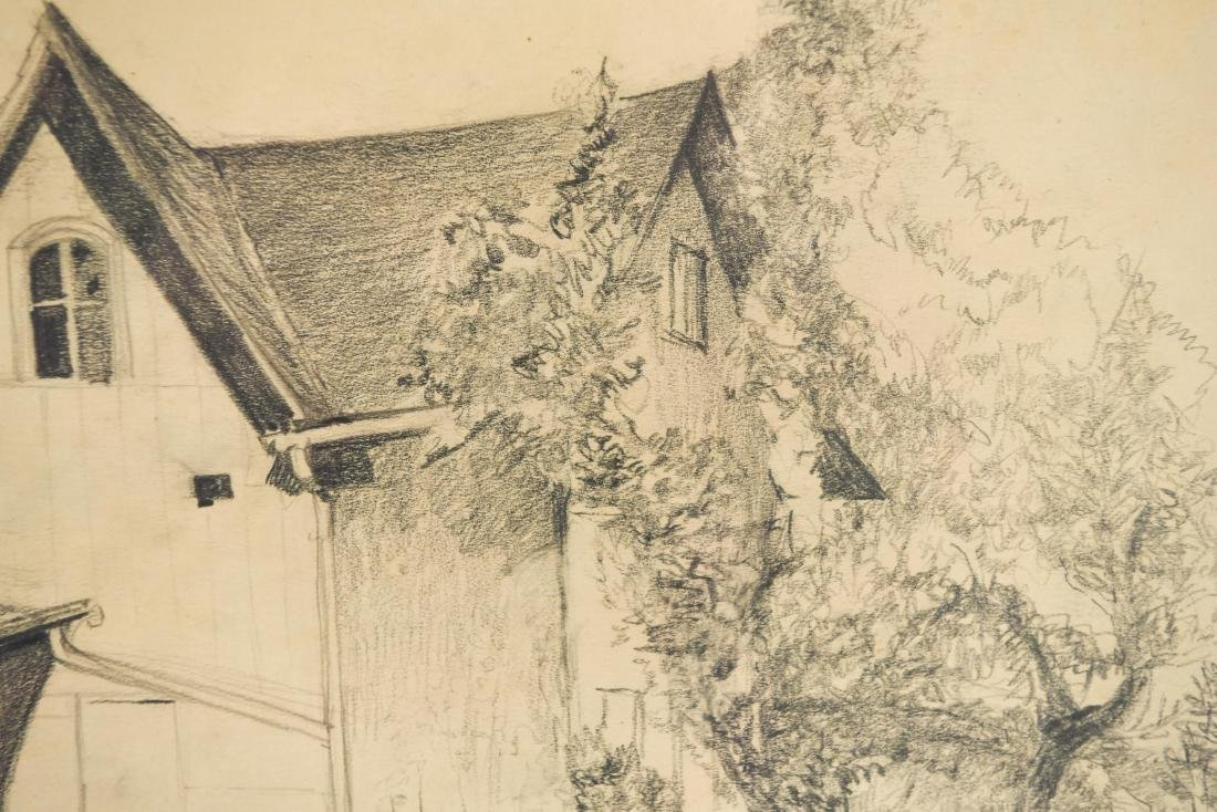 DRAWING OF A BARN, SIGNED LILLIAN AUSTIN - 4