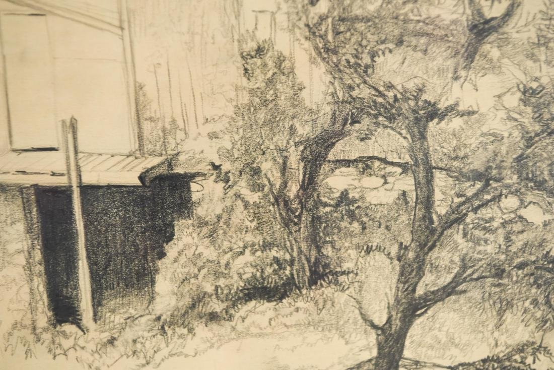 DRAWING OF A BARN, SIGNED LILLIAN AUSTIN - 5