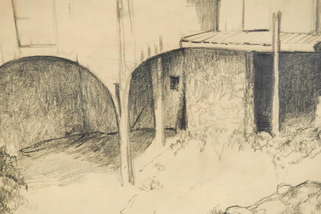 DRAWING OF A BARN, SIGNED LILLIAN AUSTIN - 6