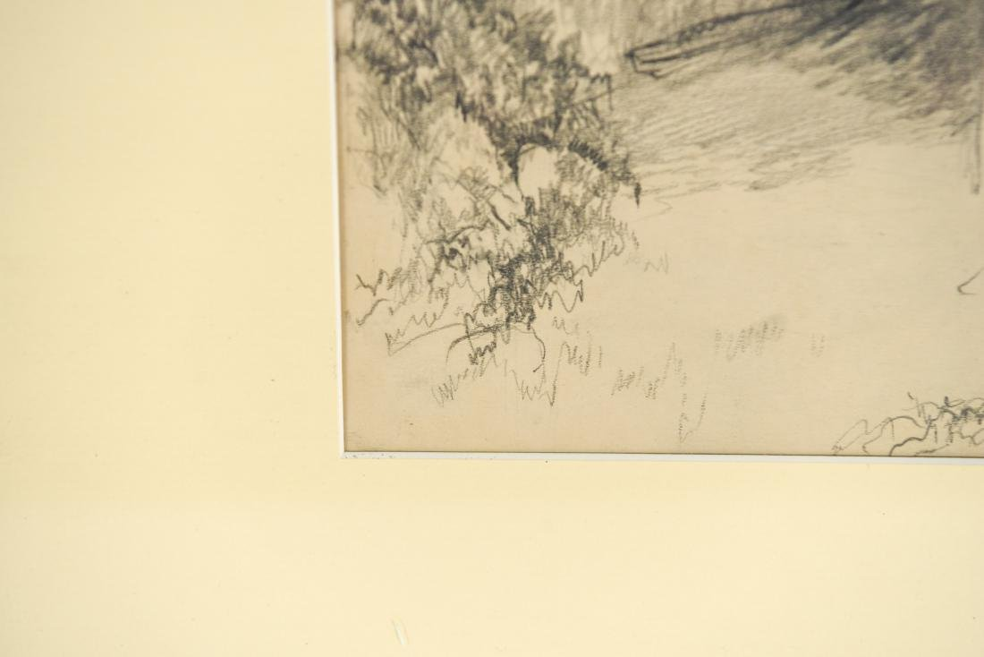 DRAWING OF A BARN, SIGNED LILLIAN AUSTIN - 7