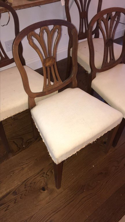 (4) MAHOGANY CARVED BACK SIDE CHAIRS - 2