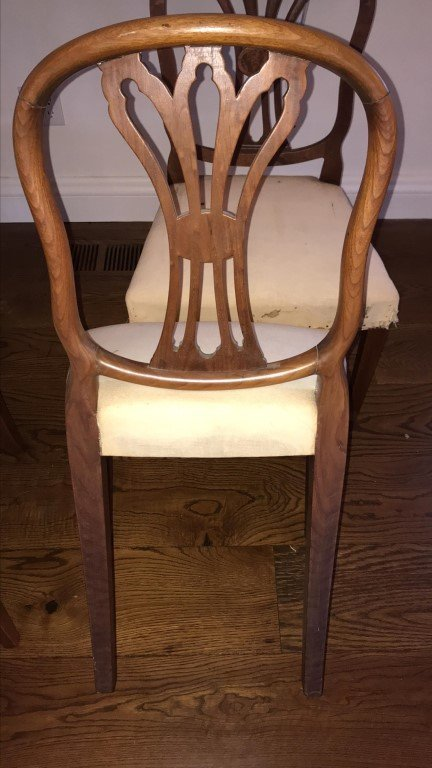 (4) MAHOGANY CARVED BACK SIDE CHAIRS - 4