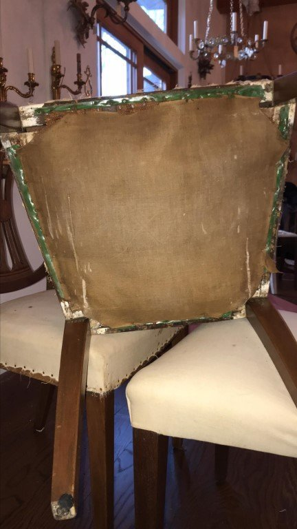 (4) MAHOGANY CARVED BACK SIDE CHAIRS - 5