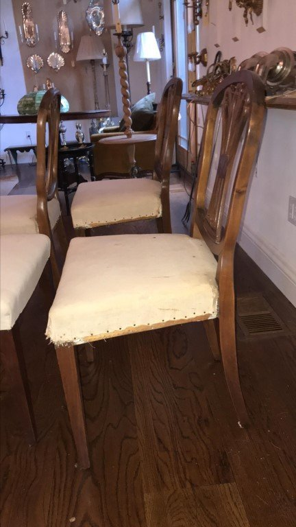 (4) MAHOGANY CARVED BACK SIDE CHAIRS - 6