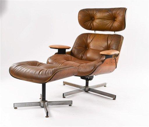 Brilliant Selig Plycraft Lounge Chair Ottoman Ibusinesslaw Wood Chair Design Ideas Ibusinesslaworg
