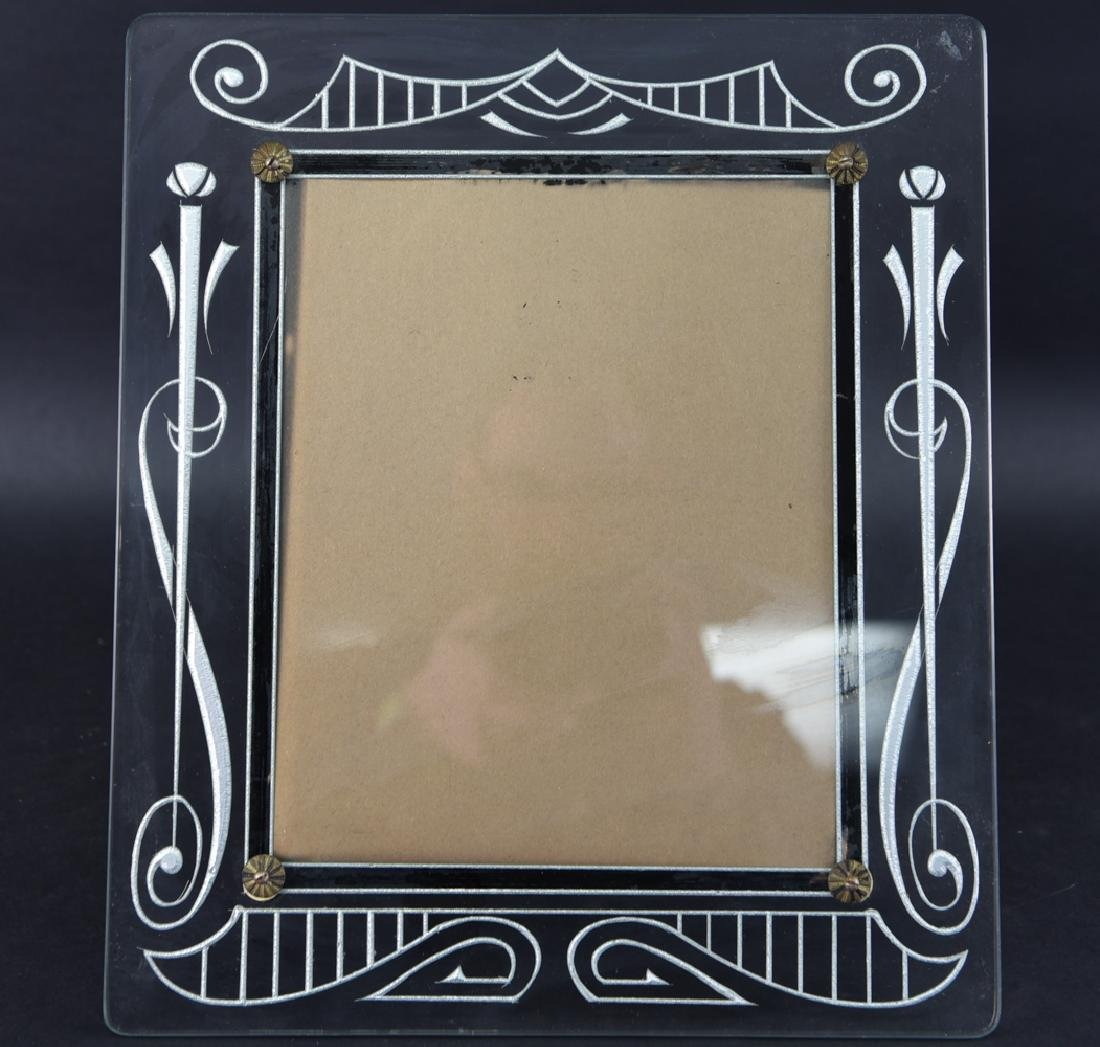 VINTAGE DECO ETCHED GLASS FRAME - Feb 17, 2019 | Westport Auction in CT